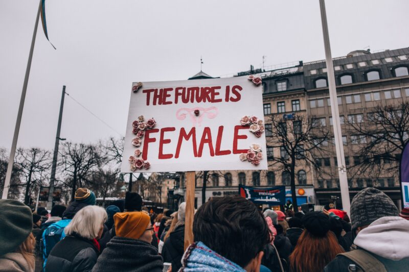 The Future if Female sign