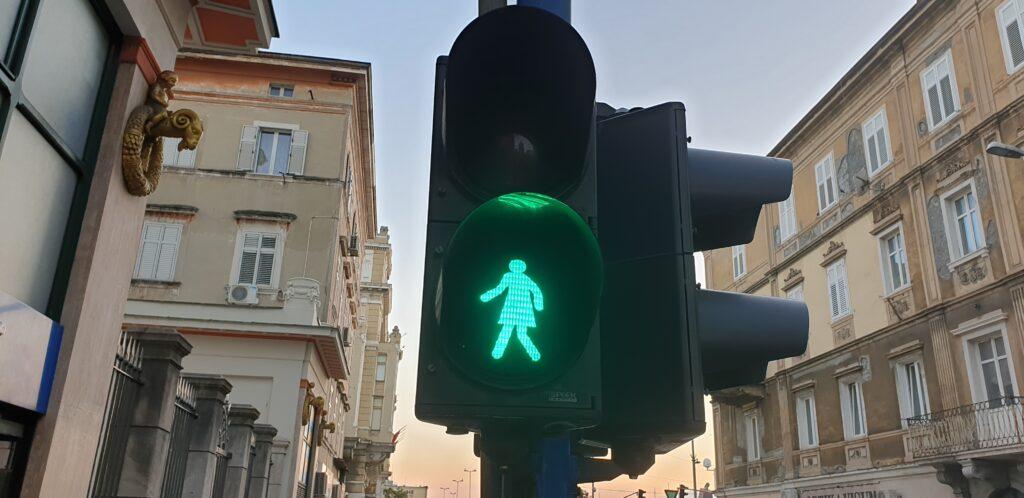 Fotografija semafora u Rijeci